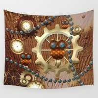 steampunk Wall Tapestries featuring Steampunk  by nicky2342