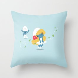 The Smurf Throw Pillow