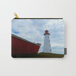 Boat and Lighthouse in Point Prim PEI Carry-All Pouch