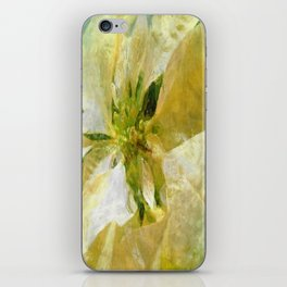 Pale Yellow Poinsettia 1 Sketchy iPhone Skin