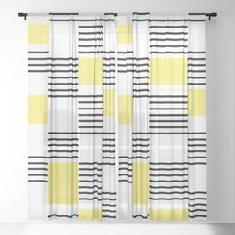 Stripes and rectangles Sheer Curtain