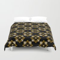 floral pattern Duvet Covers featuring Floral Pattern by Christina Rollo