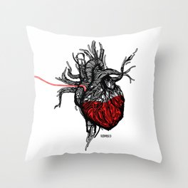 Wired Heart Throw Pillow