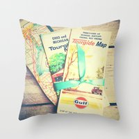 explore Throw Pillows featuring Explore by Olivia Joy StClaire