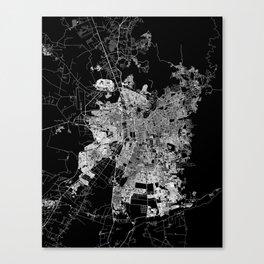Santiago map Chile Canvas Print