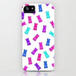 Pink Blue Purple Gummy Bear Pattern iPhone Case