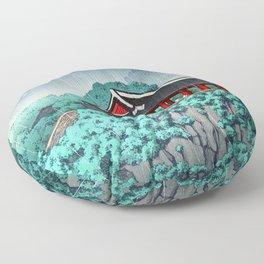 Kawase Hasui - Botan Dai at Ping-Yang - Japanese Vintage Woodblock Painting Floor Pillow