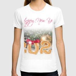 Image 2020 Christmas English Word - Lettering bow  T-shirt