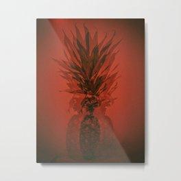 PINEAPPLE ORANGE Metal Print