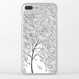 Leaf Fall Clear iPhone Case
