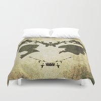 silhouette Duvet Covers featuring silhouette by Camille