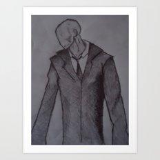 Man without a face. Art Print