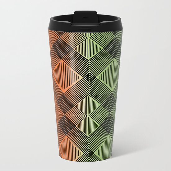 Pattern M 12 Metal Travel Mug