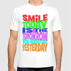 SMiLE MEDIUM Mens Fitted Tee White