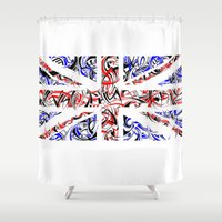 union jack Shower Curtains featuring Union Jack by David T Eagles