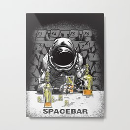 spacebar Metal Print