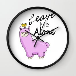 Bert The Llama King Wall Clock