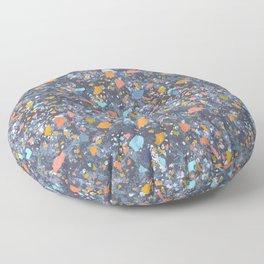 Terrazzo Blues Floor Pillow