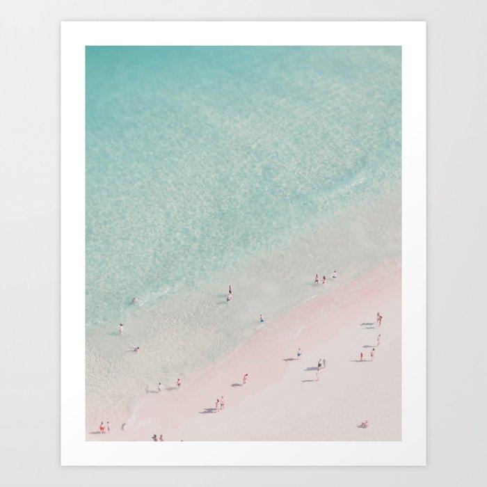 Beach Summer of love III - Aerial Beach Ocean Travel photography by Ingrid Beddoes Art Print