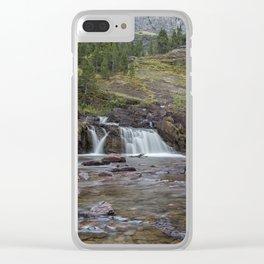 Redrock Falls - Glacier National Park Clear iPhone Case