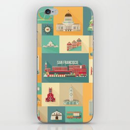 San Francisco Landmarks iPhone Skin