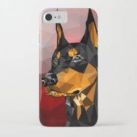 doberman iPhone & iPod Cases featuring Doberman by Ruveyda & Emre