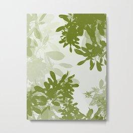 Minimal Leafs (Light) Metal Print