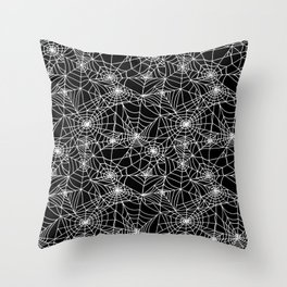 Midnight Cobwebs Throw Pillow