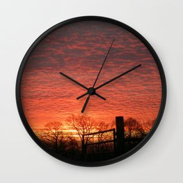 Sizzling Sunset Wall Clock