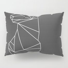 Geometric Doe (White on Grey) Pillow Sham