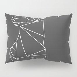 Geometric Doe (White on Grey) Pillow Sham