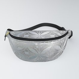 Silver glitter pattern on mother of pearl Fanny Pack