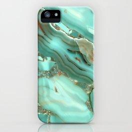 Greenish Blue Marble iPhone Case