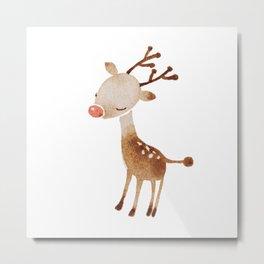 Rudolf the reindeer  Metal Print