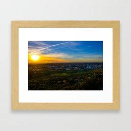 Sunset in Cácares Framed Art Print
