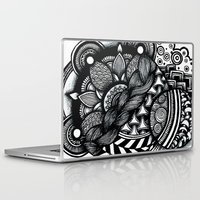 zentangle Laptop & iPad Skins featuring zentangle by goyye
