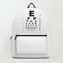 Eye Test Chart Backpack