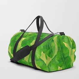 Banana leaves watercolor pattern Duffle Bag