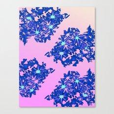 coral / floral Canvas Print