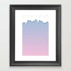 The Sky Is Just A Cake Framed Art Print