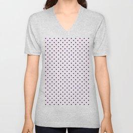 Dots (Purple/White) Unisex V-Neck