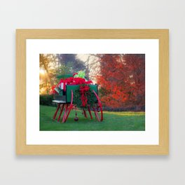 Christmas At Warrenton Framed Art Print