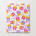French Fries junk food party time razzle neon bright happy fun kids children pop art pattern foods by charlottewinter