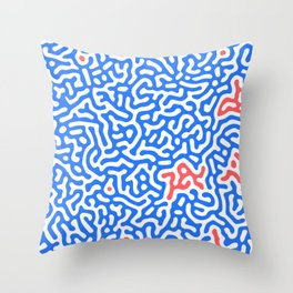 coral I Throw Pillow