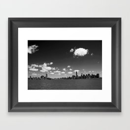 NYC Skyline B&W Framed Art Print
