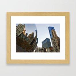 Millennium Park Bean and Skyline - Chicago Framed Art Print