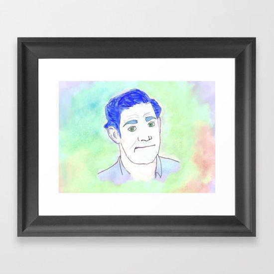 Jim Halpert Face.  Framed Art Print