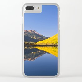 Mirror Reflections at Crystal lake Clear iPhone Case