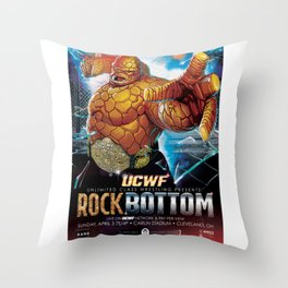 UCWF: Unlimited Class Wrestling Federation PPV Poster Throw Pillow