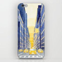 NYC, yellow cabs iPhone Skin